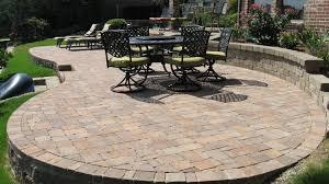 stylish brick paver patio