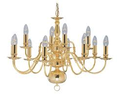 searchlight lighting 1019 12pb flemish 12 light polished brass small chandelier