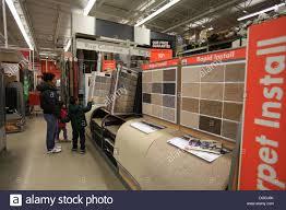 Flooring carpet samples on display in The Home Depot Kitchener