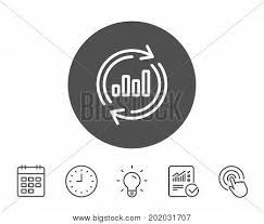 Data Clock Chart Chart Line Icon Vector Photo Free Trial Bigstock