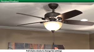 how to install a hunter 5 series model ceiling fan