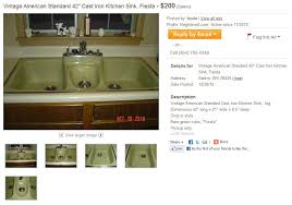 fiesta kitchen sink by american standard introduced in 1966 or