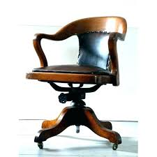 Oak Desk Chair Vintage Wooden Antique Swivel Solid  With Arm School   Office Chairs For Sale1
