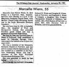 Marcella June Hamm Wiens (1925-1981) - Find A Grave Memorial