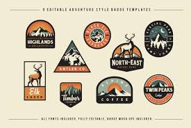 templates for logo adventure badge logos in logo templates on yellow images creative store