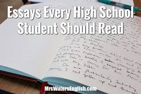essays every high school student should read