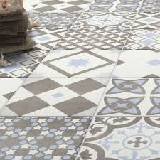 Shop the Vibe Light Blue Patterned Wall and Floor Tiles - 223 x 223mm for a