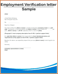 Verification Of Employment Letter Samples Nfcnbarroom Com