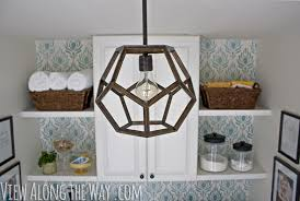 diy geometric hanging light