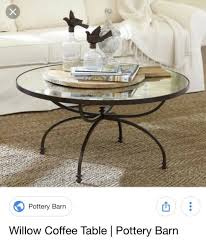 pottery barn willow coffee table great condition
