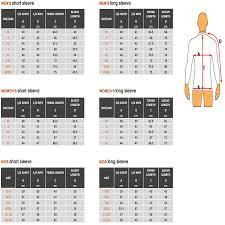 Seac Rashguard Size Chart