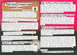 xtraresources employability4socialsciences typical interview questions