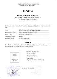 high school diploma name senior high school diploma certificate