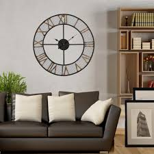 Utopia Alley Mesh Rustic Roman 24 In Bronze Gold Round Wall Clock