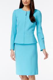 Tahari Arthur S Levine Size Chart Shop Tahari Asl Crepe Peplum Skirt Suit Set Pool Blue For
