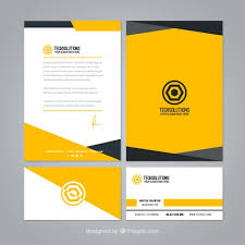 Download Vector Yellow Stationery Mock Up Vectorpicker