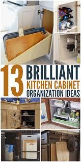 13 Brilliant Kitchen Cabinet Organization Ideas Glue Sticks And