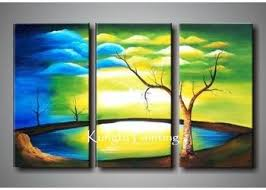 2018 100 handmade modern 3 panel wall art canvas natural scenery painting tree home deco gift from fineart 49 25 dhgate com on 3 panel wall art canvas with 2018 100 handmade modern 3 panel wall art canvas natural scenery