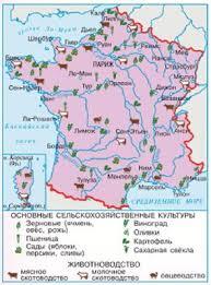 Население Франции французы и хозяйство География Реферат  Рис 184 Сельское хозяйство Франции