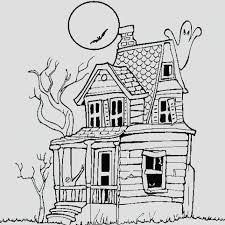 Small Picture Haunted House Coloring Pages Printables Halloween Color To