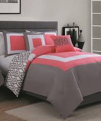 Love this combo! Navy, coral and metallic chevron duvet bed set ... & Latitude Run Reina 6 Piece Comforter Set Color: Aqua / Coral, Size: King Adamdwight.com