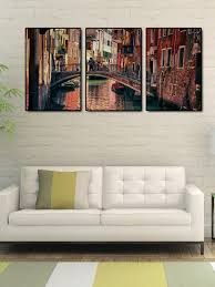 Image Portiere Myntra 999store Set Of Brown City Of Venice Wall Art