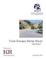Truck escape ramp study: final report - Arizona State Government ...
