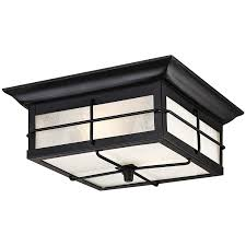 com westinghouse 6204800 orwell 2 light outdoor flush mount fixture textured black home improvement