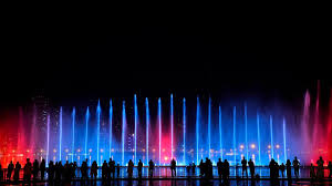 Sky Light Show Fountain And Laser Show To Light Up Sharjah Night Sky The