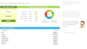 Easy Monthly Budget Template Simple Monthly Budget Template Free
