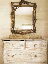 distressed dresser with mirror