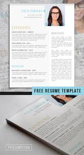 Best Modern Clean Resume Design The Modern Clean Resume Template Freebie Free Resume