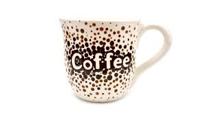 how to paint pottery ombre dots coffee mug