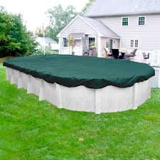 winter pool covers. Robelle Supreme Plus 18 Ft. X 33 Pool Size Oval Teal Solid Winter Covers
