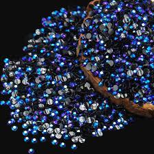 Kamínky Na Nehty Modré 100ks Aukro