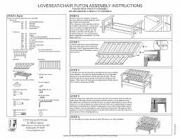 how to make a futon frame directions inspirational wooden futon frame assembly