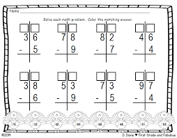 First Grade and Fabulous: Regrouping with Subtraction