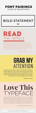 Catchy Free Font Pairings For Headings And Paragraphs Typography