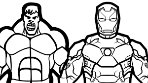 Small Picture Iron Man vs Hulk Coloring Pages For Kids Coloring Book Kids Fun