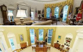 obamas oval office. Donald Trump\u0027s Oval Office Renovation Leads Washington On A Game Of Spot The Difference Obamas R
