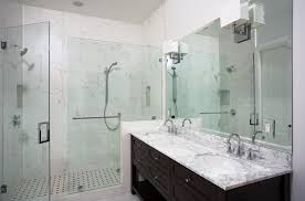 bathtub tile ideas Bathroom Contemporary with marble master bathroom