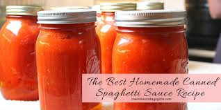 the best homemade canned spaghetti