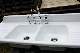 Kitchen Bar White Undermount Single Bowl Porcelain Basin Large