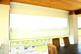 outdoor roll up blinds for patio bamboo shades in within design sun canvas roller home depot