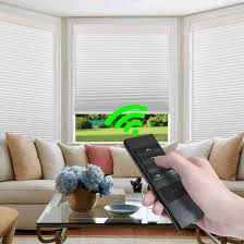 Best Light Filtering Blinds Keego Custom Motorized Blinds Smart Window Cellular Shades Remote Control Light Filtering Cordless Automated Honeycomb Blinds Indoor For Smart Home