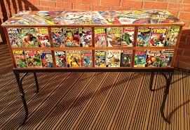 comic book furniture. Marvel X-men Vintage Comic Custom Sideboard Book Furniture H