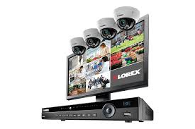 K IP Camera Home Security System With Monitor Lorex By FLIR - Exterior surveillance cameras for home
