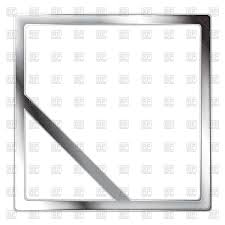 metallic square silver frame with diagonal line in corner vector image vector artwork of borders to zoom