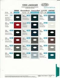 Details About 1995 Jaguar Paint Chips Color Samples Dupont Basf Ppg