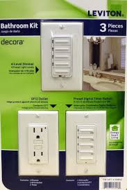 Amazoncom Leviton Bathroom Decora  PACK Level Dimmer GDCI - Bathroom dimmer light switch